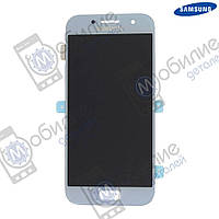 Дисплей Samsung A3 2017 (модуль экран + тачскрин) A320 Blue/Silver