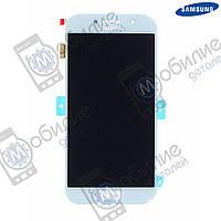 Дисплей Samsung A7 2017 (модуль экран + тачскрин) A720 Silver/Blue