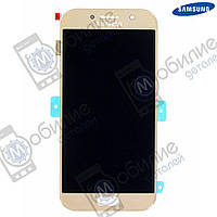 Дисплей Samsung A5 2017 (модуль экран + тачскрин) A520 Gold