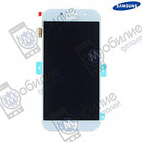 Дисплей Samsung A5 2017 (модуль экран + сенсорное стекло) A520 Silver/Blue