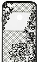Xiaomi Redmi 4X Чехол-Накладка Rock Tatoo Art Case Magic Flowers (Материал: Прозрачный Силикон С Качественным