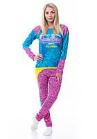 Женская пижама кофта с лосинами Турция 8153