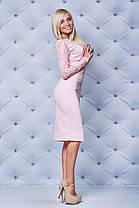 Шикарное трикотажное платье персик, фото 3