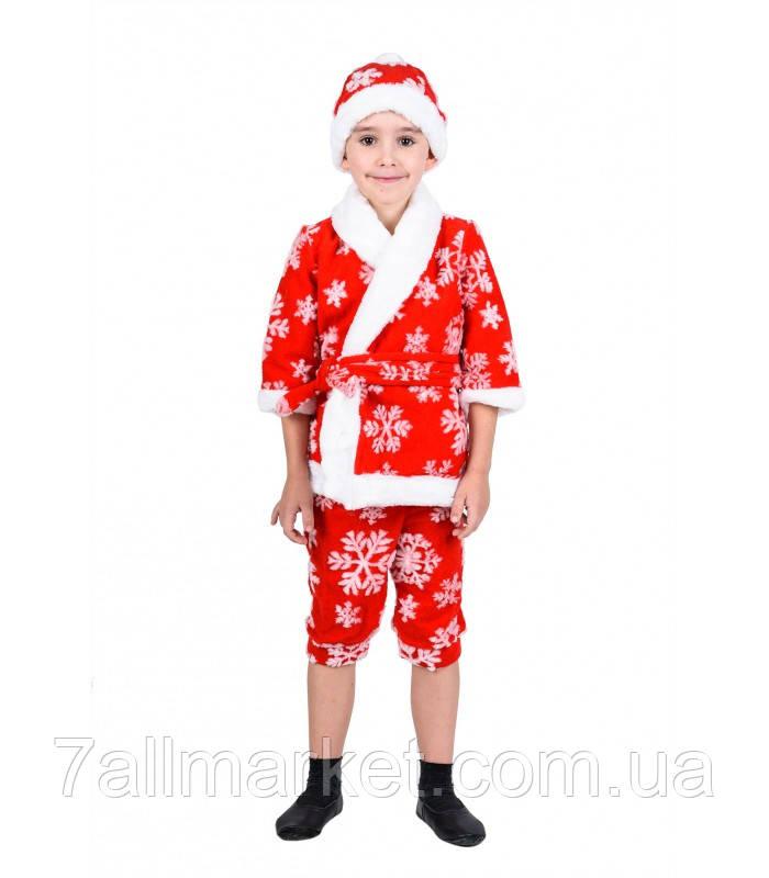 Карнавальный костюм Нового года с узором на мальчика 3-6 лет (Украина) купить оптом в Одессе на 7 км