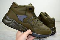 Зимние кроссовки на меху мужские New Balance 580 хаки 2498