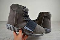 Мужские кроссовки Adidas Yeezy Boost 750 Адидас серые 2482 (РЕПЛИКА)