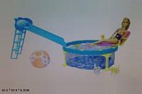 """Кукла типа """"Барби"""" BLD112 (24шт) с питомцами,бассейн с горкой, в кор."""