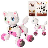 Тварина MG010-012 2 види (кішка, собака), муз., світло, бат., кор., 25-25-26,5 см.