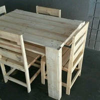 Столы и стулья комплекты из натурального дерева для дома