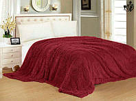 Шикарный Плед-покрывало Травка № 63, цвет красный