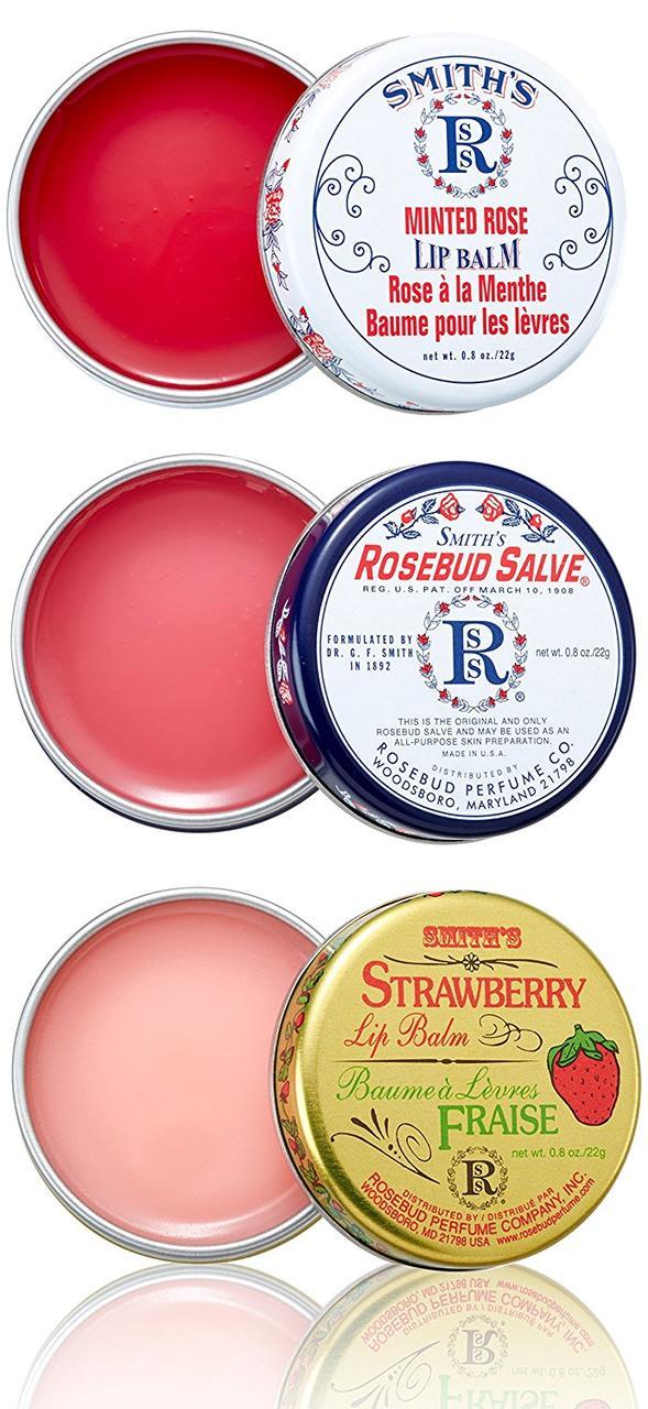 Набор бальзамов для губ Rosebud Perfume Co. Three Layers of Lavish Lip Balm