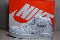 Белые высокие кроссовки Nike Air Force унисекс