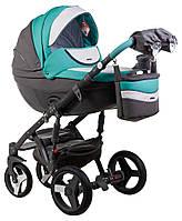 Детская коляска универсальная 2 в 1 Adamex Monte Deluxe Carbon кожа 100% D106 (Адамекс Монте)