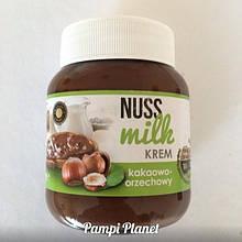 Шоколадная паста NUSS MILK Шоколадно-ореховая (Нус Милк) 400 гр в стекляной банке