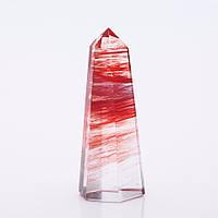 Кристалл сувенир натуральный камень Турмалин h-7см (+-) d-2см(+-)