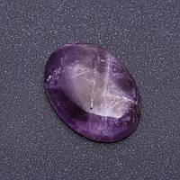 Фурнитура Кабошон натуральный камень Аметист овал р-р 3,5х2,5см