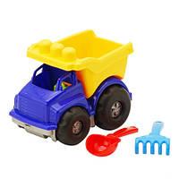 """Машина """"Тотошка"""" самосвал №1: машинка, лопата, грабелька (ЛГ3) 0169"""