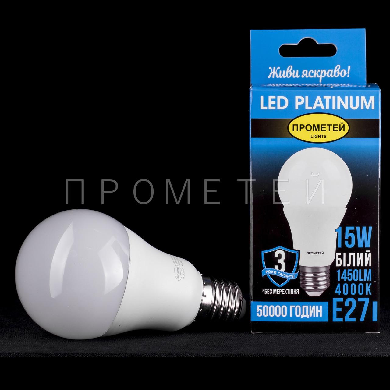 Светодиодная (LED) лампочка Прометей E27 - A60 15W P3-A602