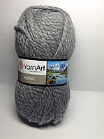 Пряжа alpine - цвет темно-серый