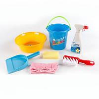Набор для уборки 090 (48шт) 7 предметов, микс цветов, в сетке, 21-21-17см