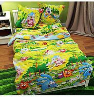 Полуторный комплект детского постельного белья Смешарики, бязь Голд Люкс, 145х220 см