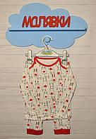 """Пижама универсальная """"Новогодние олени"""" (80 размер)"""