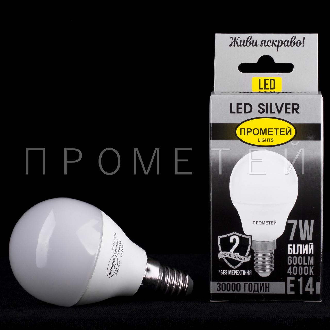 Светодиодная (LED) лампочка Прометей E14 - G45 7W P6-7454
