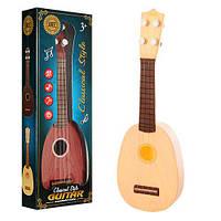 Гитара 8816 (96шт) 36,5см, струны 4шт, 2 вида, в кор-ке, 12,5-37-5,5см