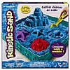 Кинетический песок, Замок из песка (голубой, 454 г, формочки, лоток), Kinetic Sand