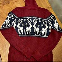 Мужской свитер с оленями