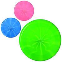 Летающая тарелка M 3343 (144шт) 22,5см, 3 цвета, в кульке, 22,5-22,5-1см