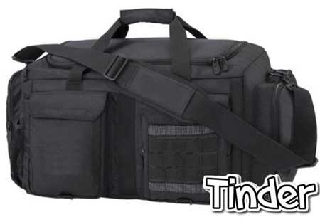 Картинка черной мужской дорожной сумки