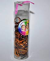 Силиконовые Резинки для волос - коричнев (12 туб)