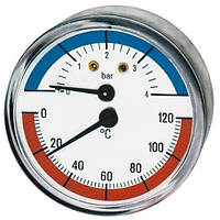 Термометр боковое подключение 1/2 63мм. 120град.