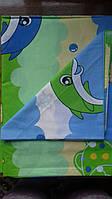 Комплект детского постельного белья в кроватку Дельфины, бязь Голд Люкс, 110х140 см