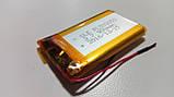 Аккумулятор с контроллером заряда Li-Pol PL503050 3,7V 900mAh (5*30*50мм), фото 2