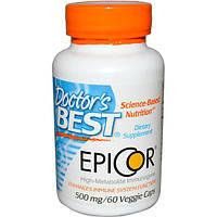 Эпикор 500 мг 60 капс быстрое повышение иммунитета в теч. 2-х часов противовирусное Doctor's Best USA