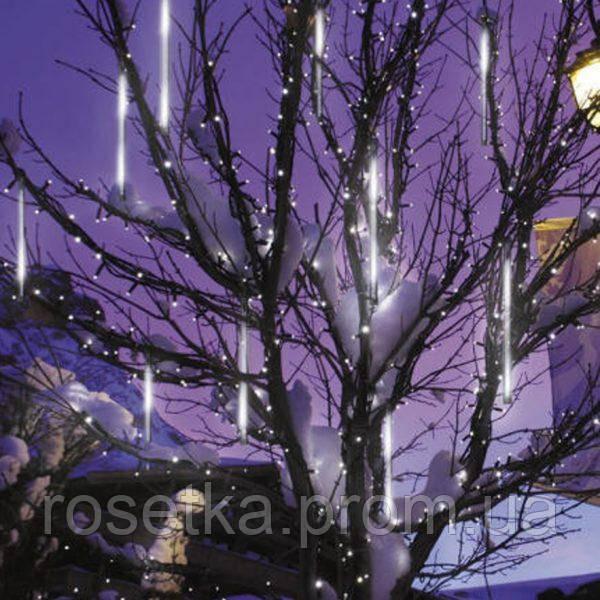 Светодиодная гирлянда Снегопад Snowfall Light Падающий снег  8 штук по 30 см., белый цвет , фото 1