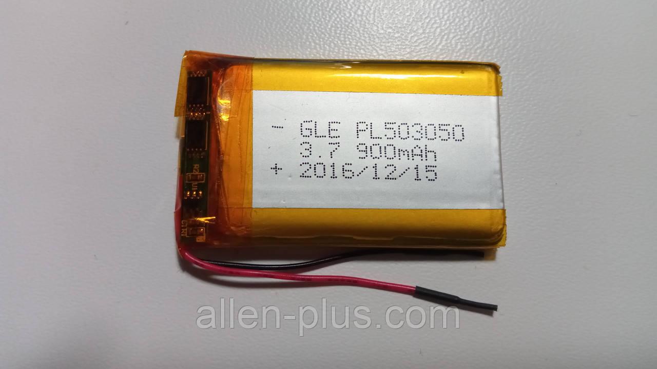 Аккумулятор с контроллером заряда Li-Pol PL503050 3,7V 900mAh (5*30*50мм)