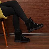 Женские зимние ботинки на шнуровке модель 7223.3
