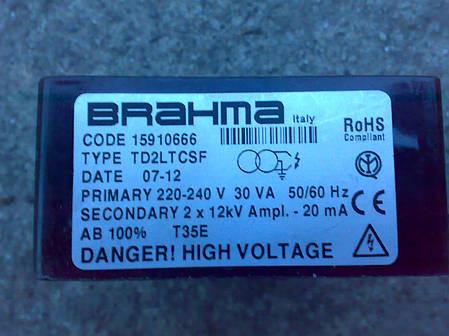 Трансформатор поджига Brahma TD2LTCSF, фото 2
