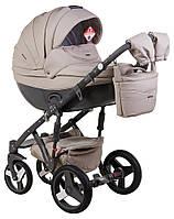 Детская коляска универсальная 2 в 1 Adamex Monte Deluxe Carbon кожа 100% 55S-SZ (Адамекс Монте)