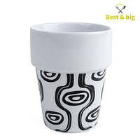 Кружка Afrodite - 300 мл, Бело/черная (Merxteam) керамика