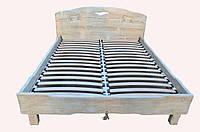 """Ліжко двоспальне """"Вогонь""""дерев'яне з масиву під старовину"""
