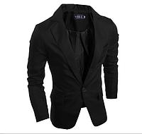 Стильный классический мужской пиджак черный