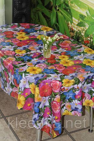 Клеенка  рулонная  на стол оптом с яркими цветами, фото 2