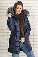 Стильная женская зимняя куртка с мехом