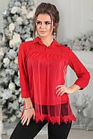Деловая красная Блузка Диана, фото 1
