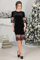Платье из бархата и кружев в черном цвете . 1042