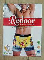 Трусы-боксеры с новогодним рисунком дед мороз мужские  Redoor хлопок ТМБ-18628